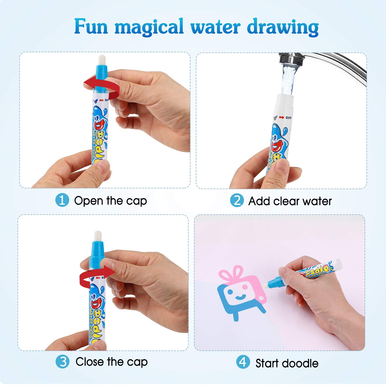 Aqua Magic Doodle Mat Large Educational Water Drawing Mat for Kids Aywewii Magic Water Drawing Mat