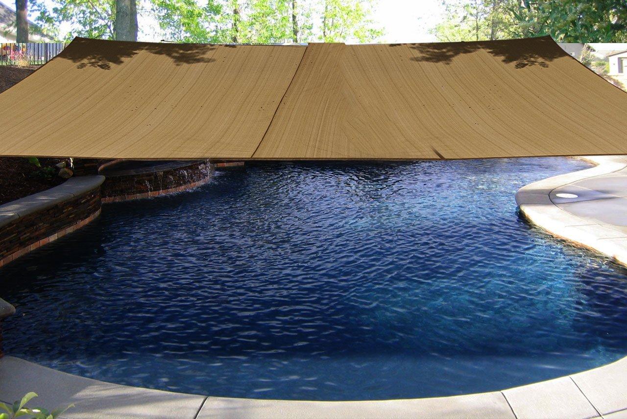 amazon com new sand color 16 u0027 square sun shade sail shade canopy