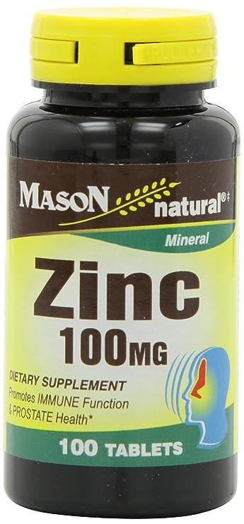 Buy Mason Vitamins Zinc 100 Mg Tablets 100 Count Bottles Pack Of 3