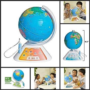 Oregon Scientific - SG268 - Aprender el Ingles con el Globo Interactivo SmartGlobe Discovery parlante (Ingles): Amazon.es: Juguetes y juegos