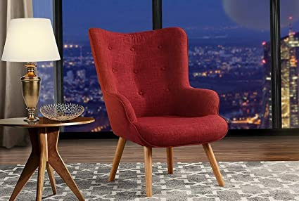 Wondrous Amazon Com Monowi Red Accent Chair For Living Room Caraccident5 Cool Chair Designs And Ideas Caraccident5Info