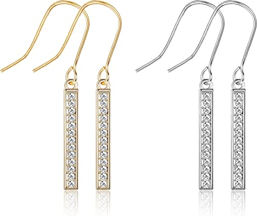 Gold Plated Luxury Crystal Ball drop earringsFree Fast Shipping