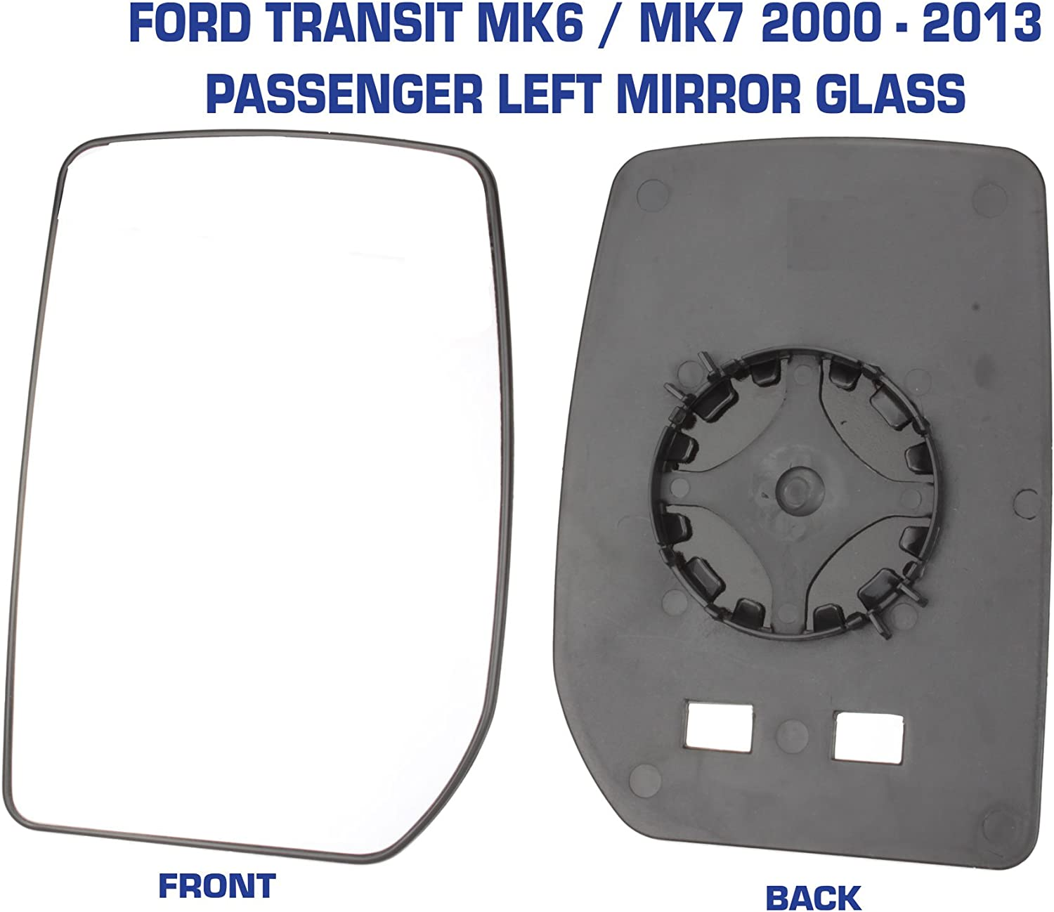 Right Driver side Wing door mirror glass for Ford Transit 2000-2014