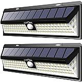 LITOM Solar Lights 102 LED Solar Power Outdoor Motion Sensor Light with LED on Both Side-2 Pack, LTCD127AB