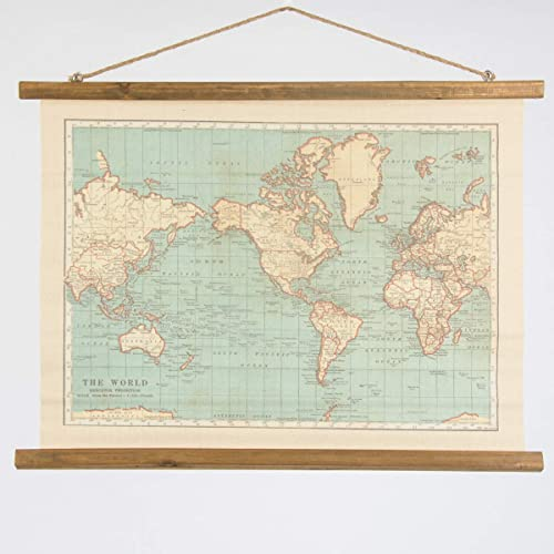 Vintage map wall hanging canvas print world map burlap tapestry large vintage style hanging wall map canvas print great for the home or a gift for gumiabroncs Choice Image