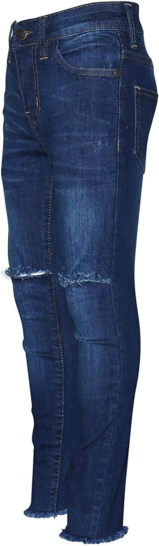 A2Z 4 Kids/® Ragazze Elastico Pesca Jeans Bambini Strappato Denim Pantaloni Moda Pantaloni Jeggings Et/à 5 6 7 8 9 10 11 12 13 Anni