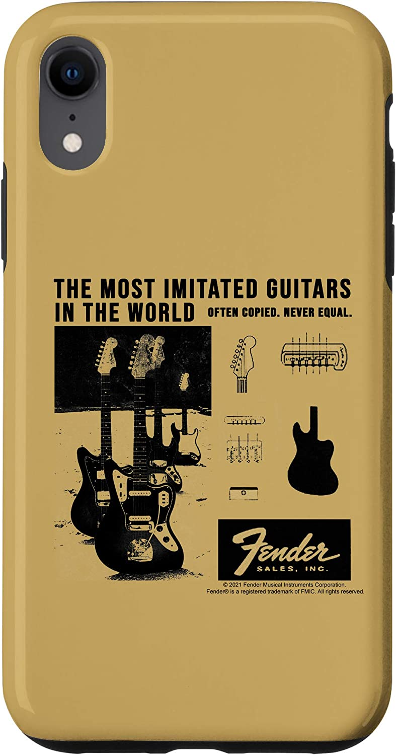 iPhone XR Fender The Most Imitated Guitars In The World Vintage Ad Case