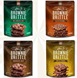 Sheila G's Brownie Brittle 5 Oz Assortment Bundle: One Bag Each of Chocolate Chip, Salted Caramel, Toffee Crunch, and Mint Chocolate Chip