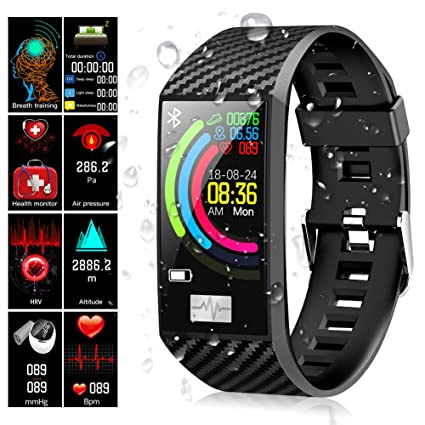 Fitness Tracker Uhr Ip68 ArmbandQimaoo PulsmesserWasserdicht 14 Zoll Aktivitätstracker 1 Sportuhr Farbbildschirm Mit LjA54R