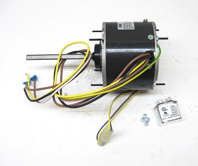 Motor de Ventilador de Condensador de Aire Acondicionado CA 1/4 HP ...
