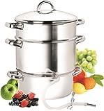 Cook N Home NC-00256 11-Quart Stainless-Steel Juicer Steamer