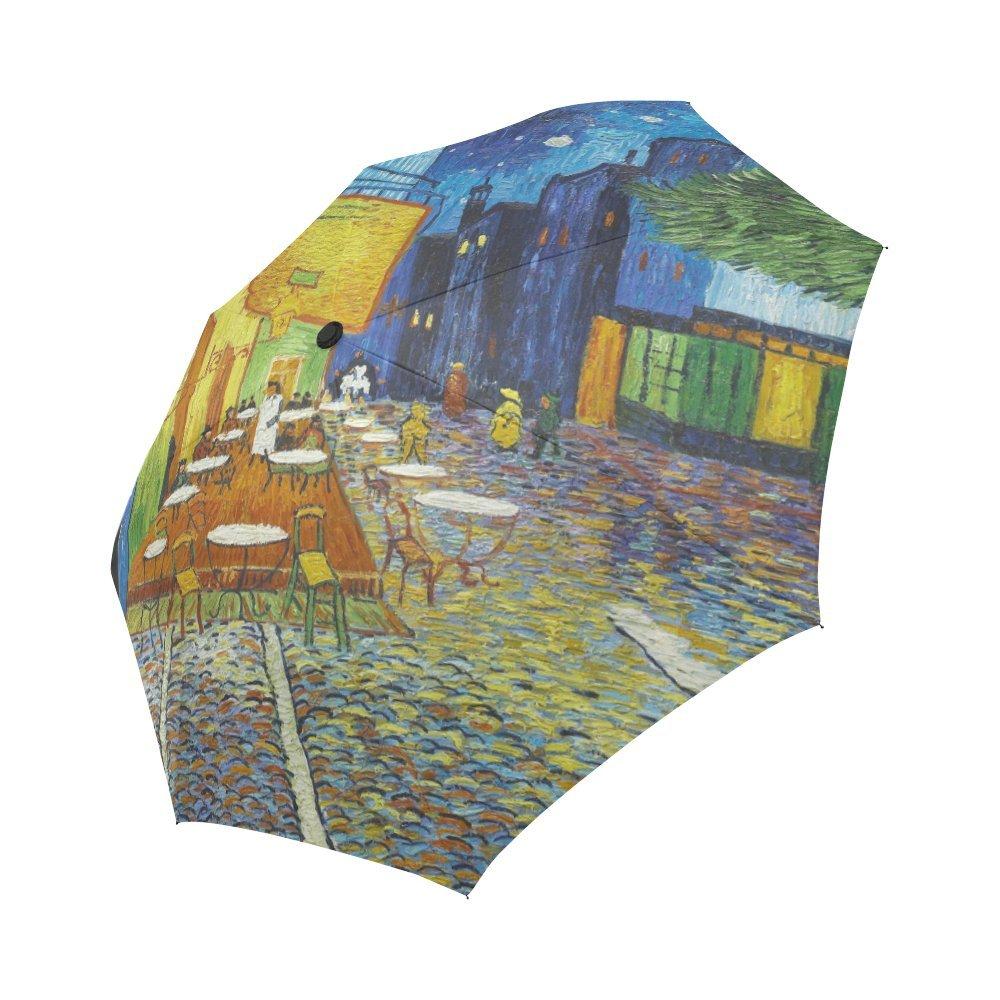 テラスのA Cafe At Night by Vincent Van Gog自動折りたたみ式傘   B078XTGG8G