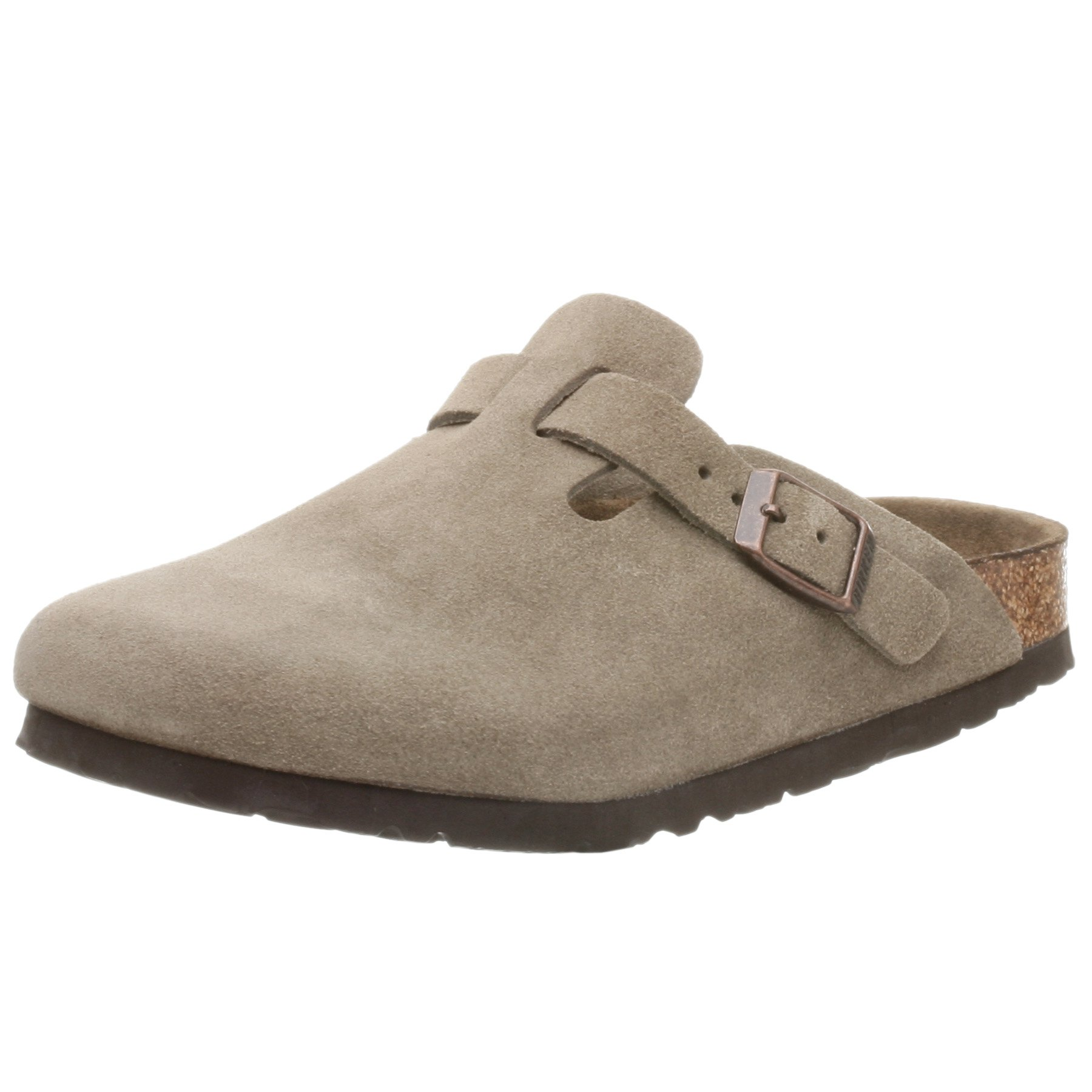 Birkenstock Toddler/Little Kid Boston Suede Clog,Taupe Suede,31 Narrow EU