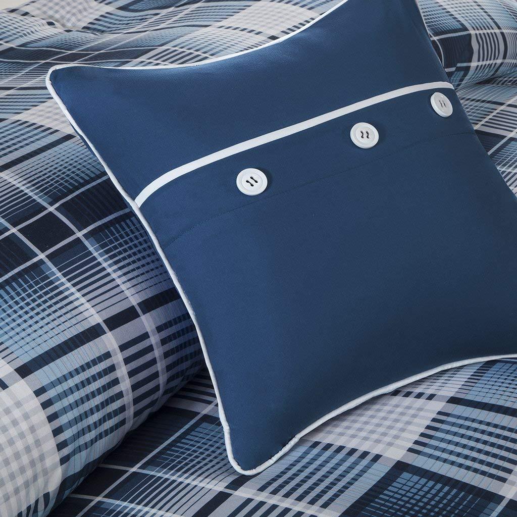 Intelligent Design Camilo 5 Piece Comforter Set Blue Full//Queen
