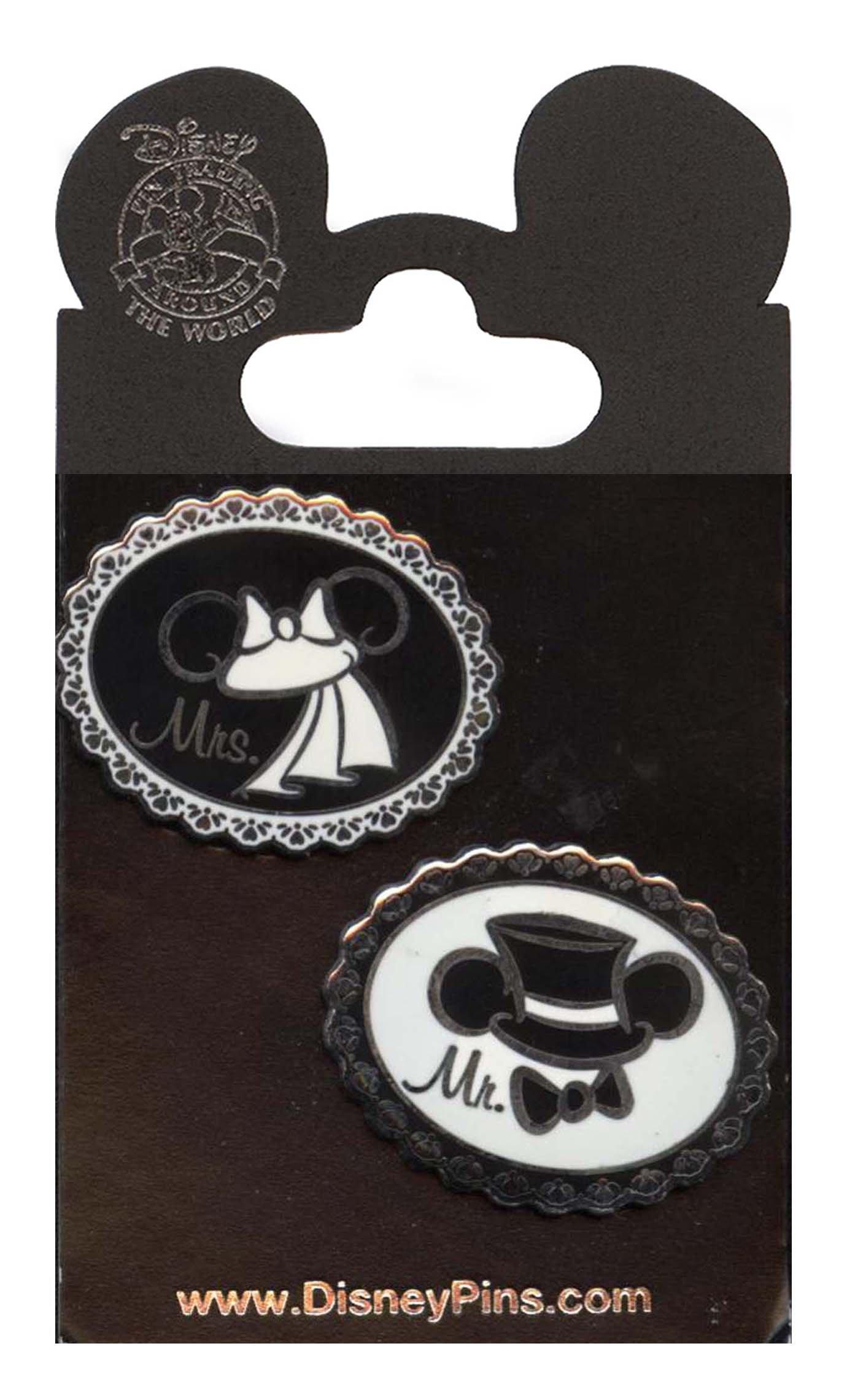 Disney Pins - Wedding Ear Hats - First Release - Pin 74249