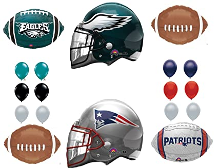 8f8067e07ee Amazon.com: New England Patriots & Philadelphia Eagles Party Balloons  Decoration Supplies: Everything Else