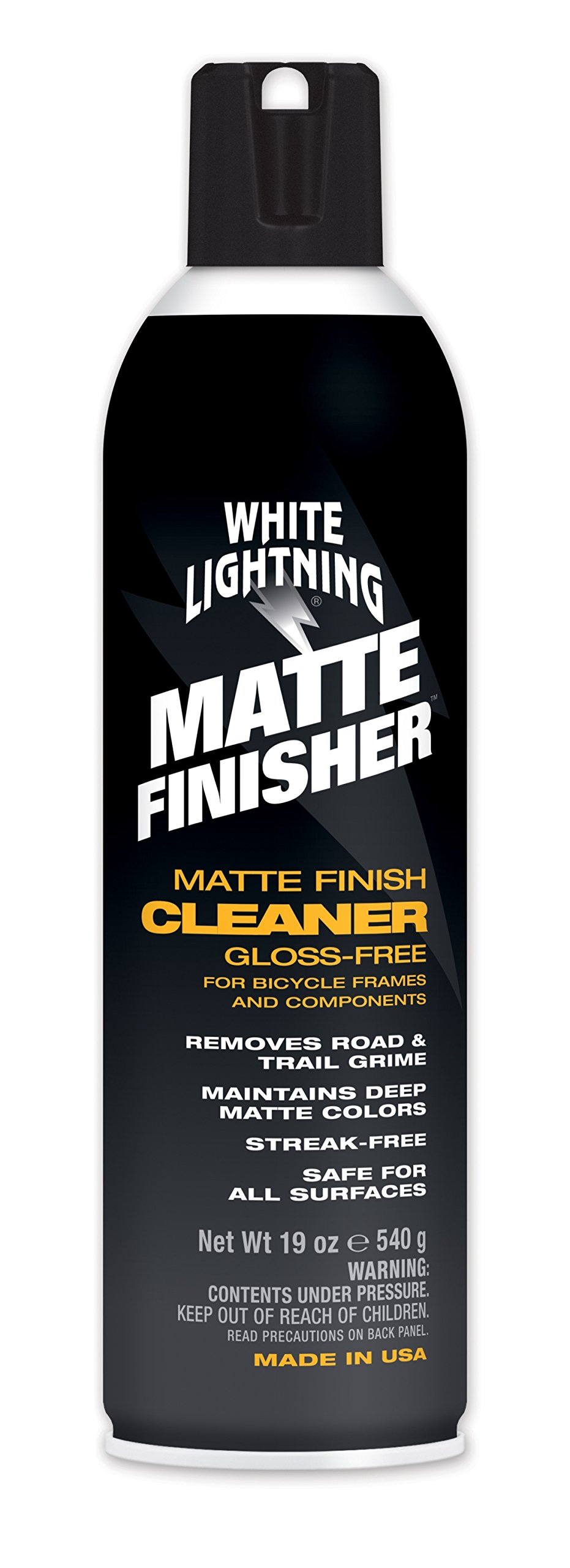 White Lightning - Matte Finisher, Aerosol Matte Finish Bicycle Cleaner, 19oz