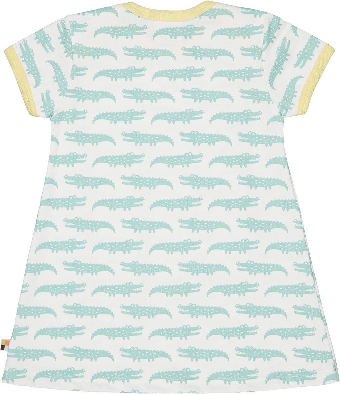 loud proud M/ädchen Dress Allover Print Organic Cotton Kleid