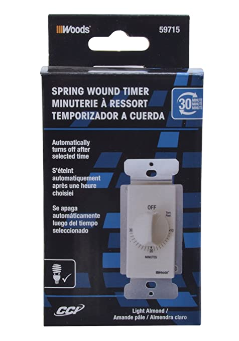 woods 59714 30 minute decora style timer mechanical wall switch woods 59714 30 minute decora style timer mechanical wall switch white tools testers amazon