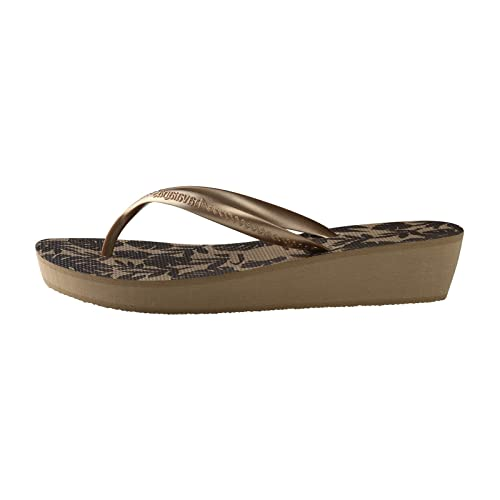 Havaianas high light infradito con tacco donna oro