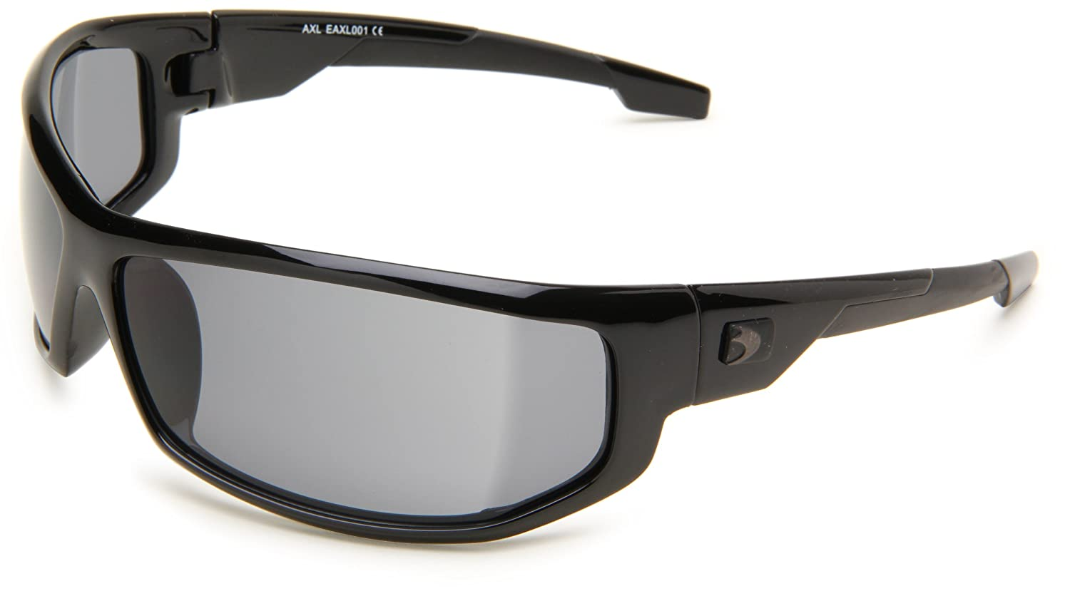Bobster AXL EAXL001C Wrap Sunglasses, Black Frame/Clear Lens, One Size