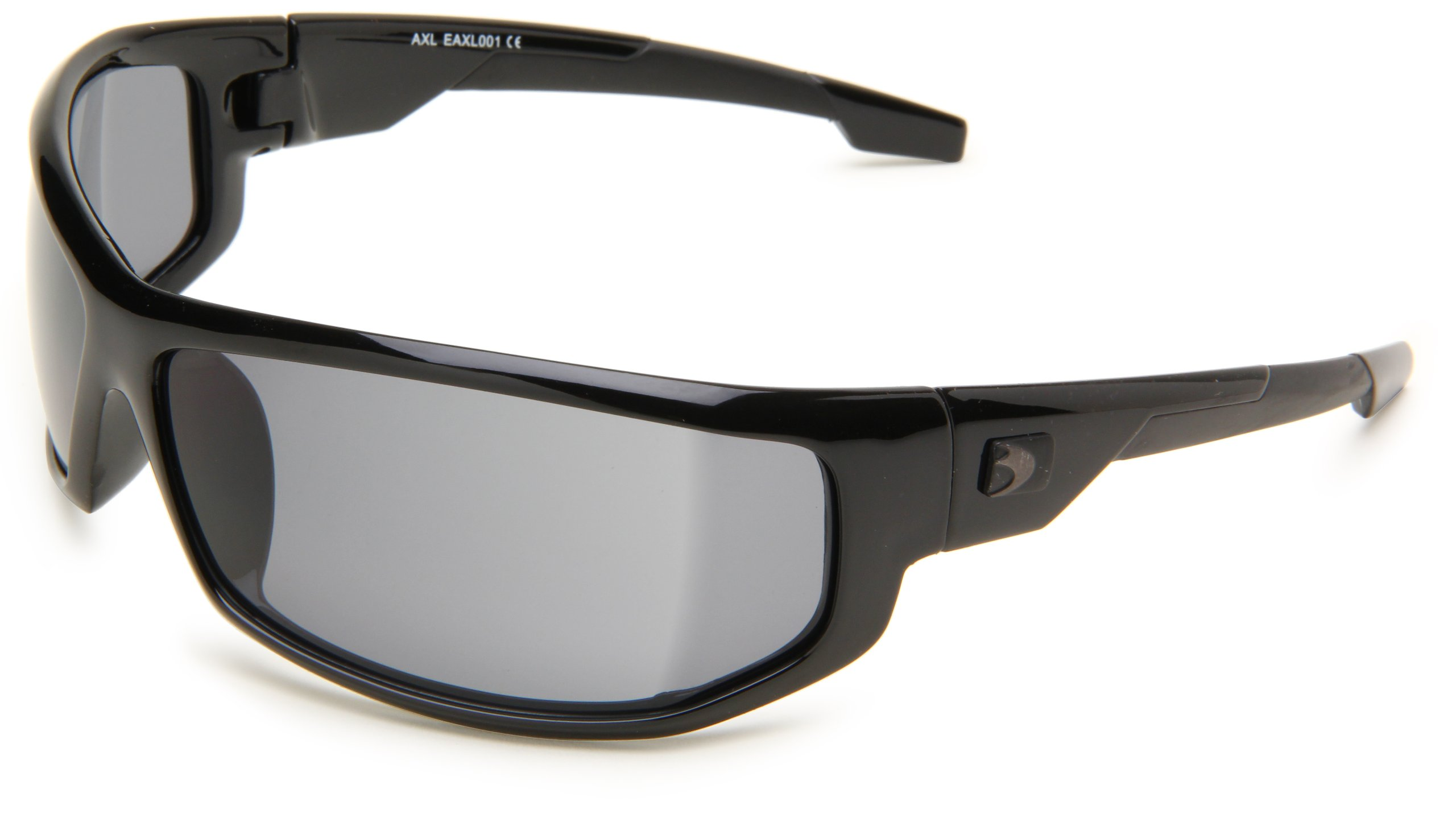 Bobster AXL EAXL001 Wrap Sunglasses,Black Frame/Smoked Lens,One Size