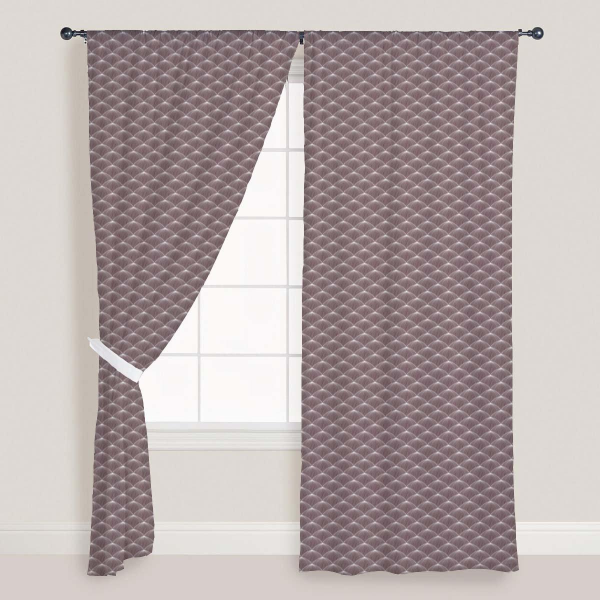 AZ Stylized Balls Door & Window Curtain Satin 4feet x 7feet; SET OF 3 PCS