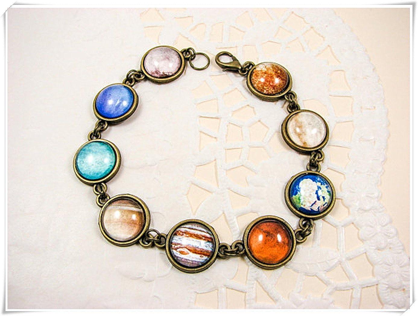 Solar System Bracelet, Planet Bracelet, Galaxy Bracelet, Universe jewelry, Space F43