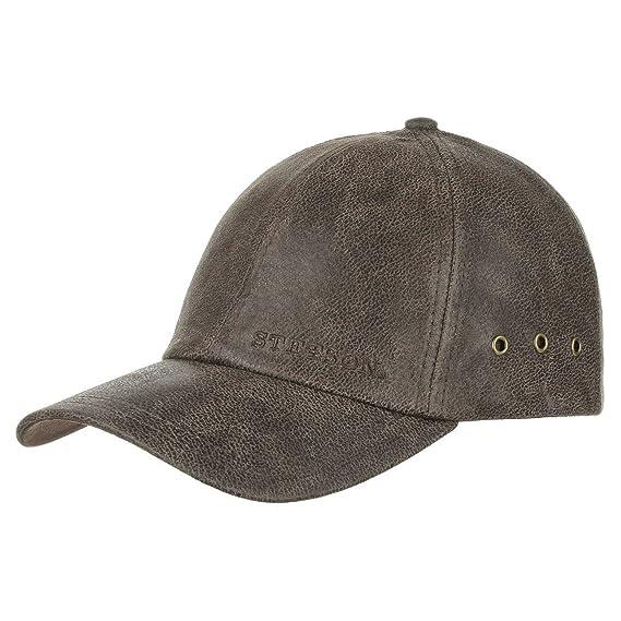 72f72979 Stetson Liberty Leather Cap Men   Baseball hat Metal Buckle, with Peak  Summer-Winter
