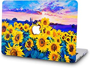 SAYAKE Plastic Hard Case for New MacBook Pro 13 Inch with/Without Touch Bar for Model A2159/A1706/A1708/1989(Sunflowers)