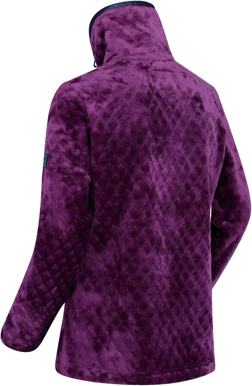 Regatta Womens Halona Full-zip Diamond High Pile Leatherette Trim Fleece