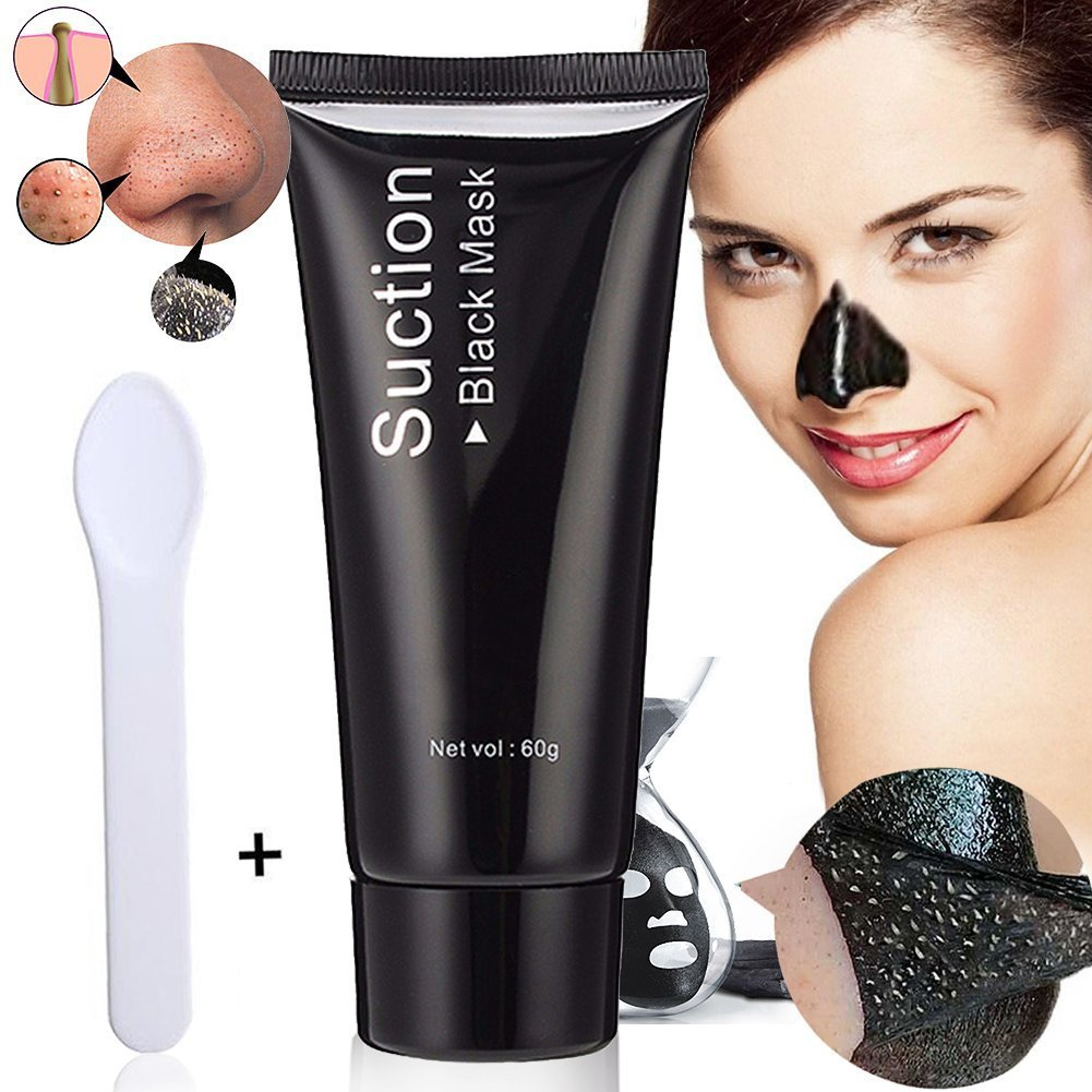 Mascarillas exfoliantes y limpiadoras, Black Mask, Peel off mask, Blackhead Remover mask, Máscara Negra, Peel Off Máscara,tearing Style Deep Cleansing Purifying BlackHead y Acné,black Mud Face Mask60g BUOCEANS