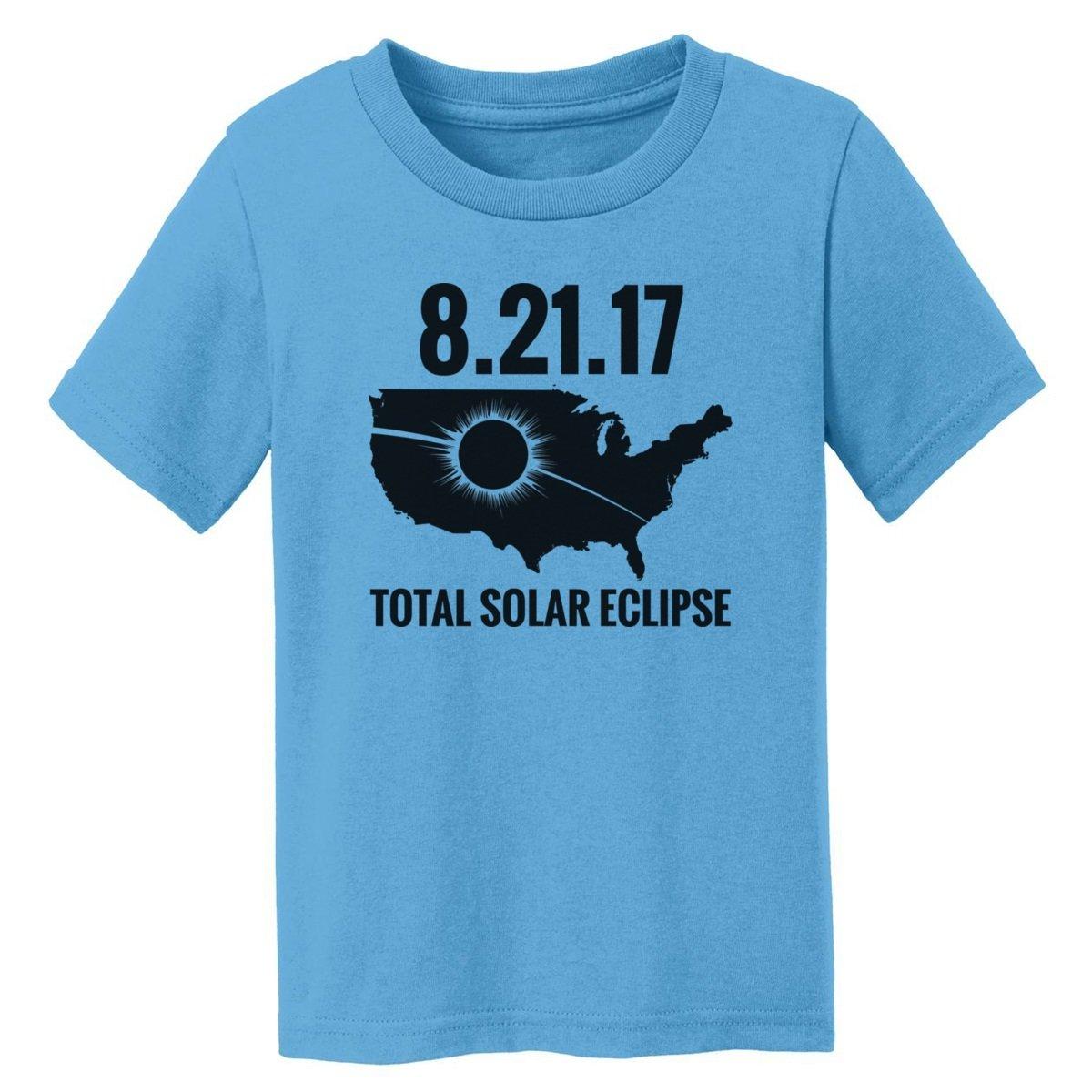 Digital T-Shirt Shop Baby-girls 2017 Total Solar Eclipse USA Total Solar Eclipse