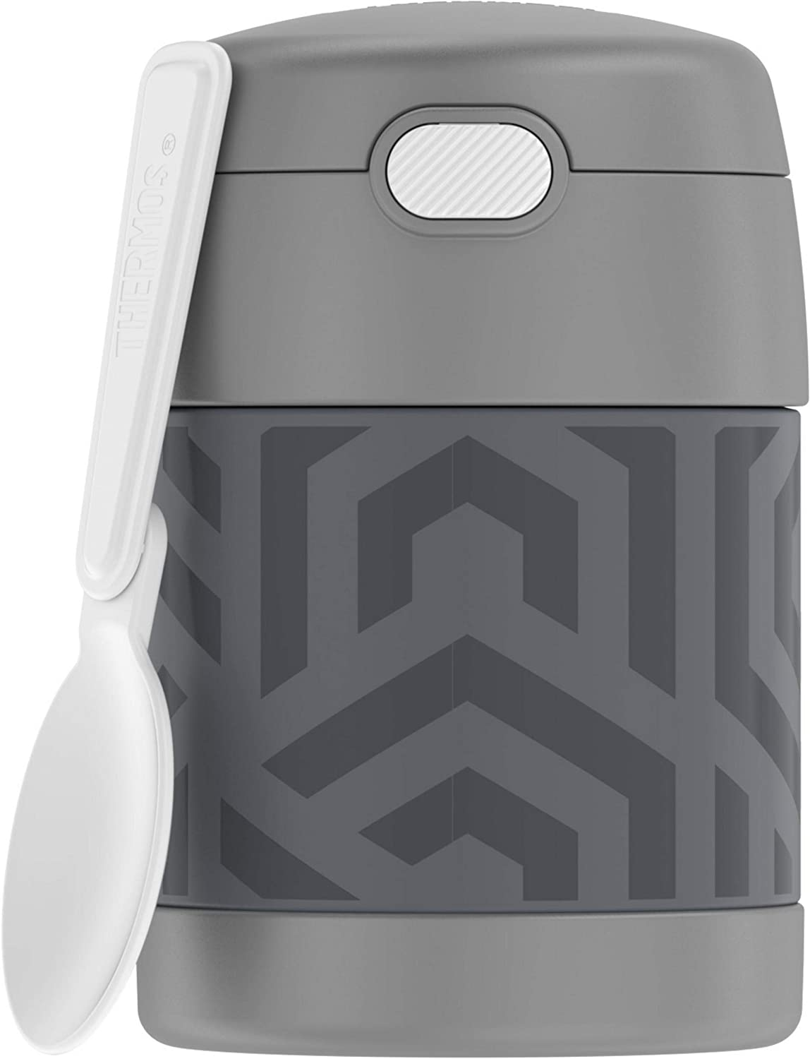 Thermos FUNTAINER 10 Ounce Food Jar, Grey and Aqua Waves