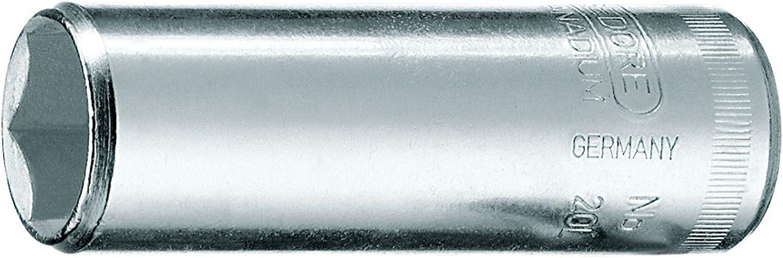 Llave de vaso 1//4 forma larga 1//2 Gedore 20 L 1//2AF