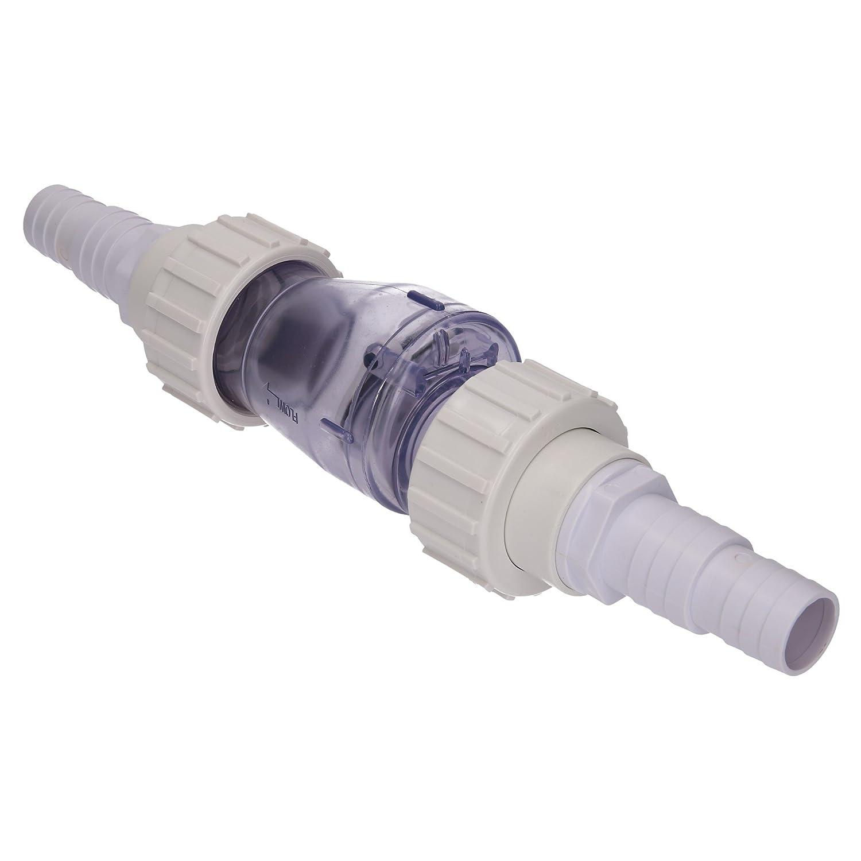 SL247 Valve anti-retour pour piscine universel pour tuyau 32mm//38mm Pool Piscine verre transparent Vitrine beidseitige Douille de tuyau