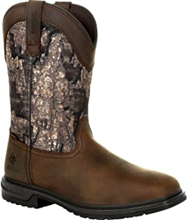 product image for Rocky Men's Worksmart 400G Insulated WP Western Boot, Realtree Timber, 8 Medium