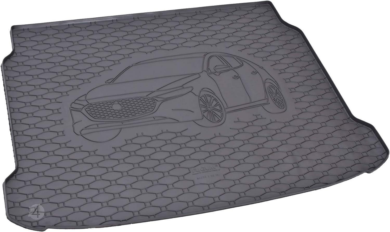 Passgenau Kofferraumwanne Geeignet Für Mazda 3 Hatchback Ab 2019 Ideal Angepasst Schwarz Kofferraummatte Gurtschoner Auto