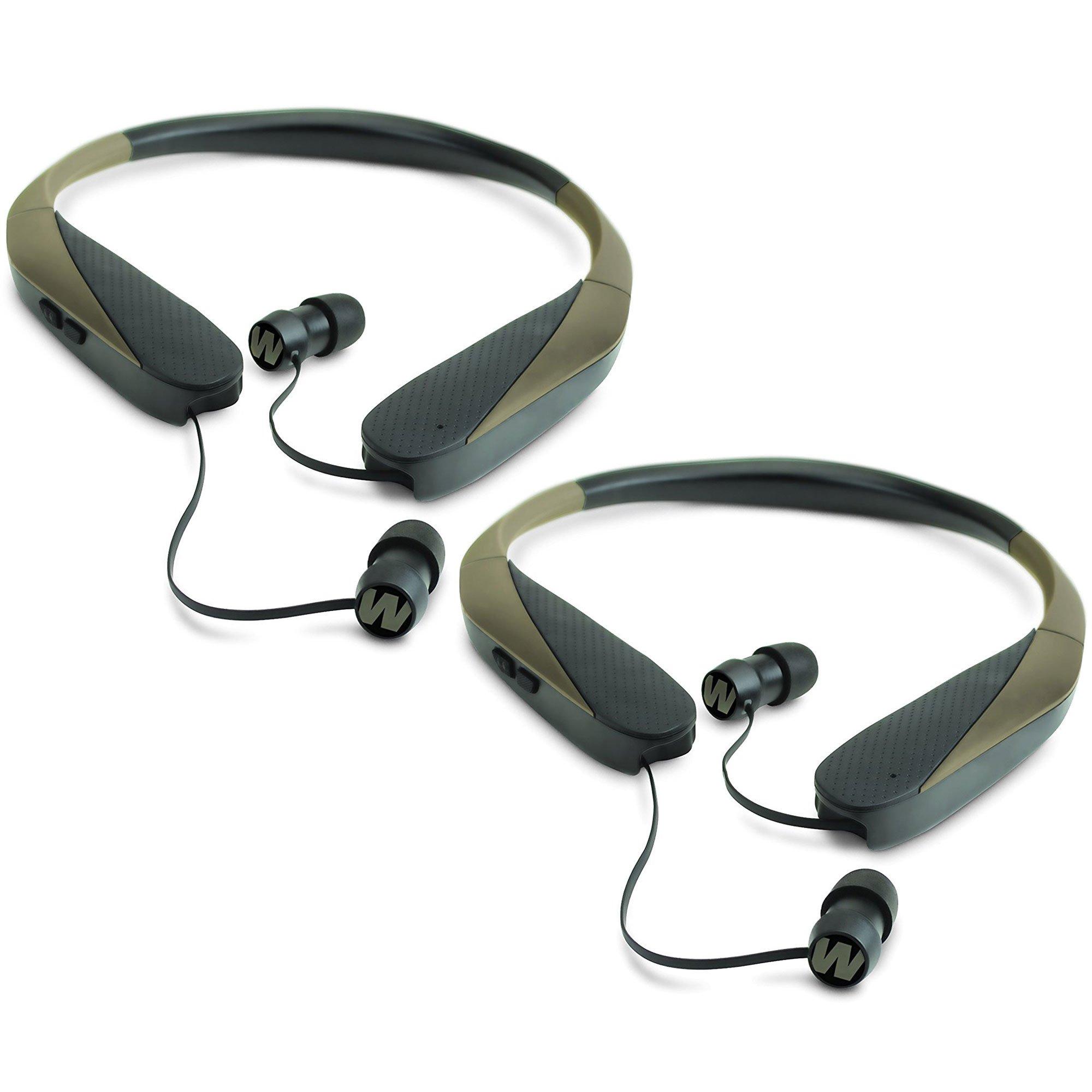 Walker Razor X Retractable Hunting Digital Noise Reduce Ear Bud Headset (2 Pack) by Walker's Game Ear
