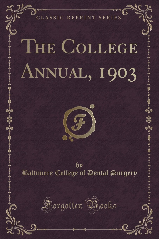Download The College Annual, 1903 (Classic Reprint) ebook