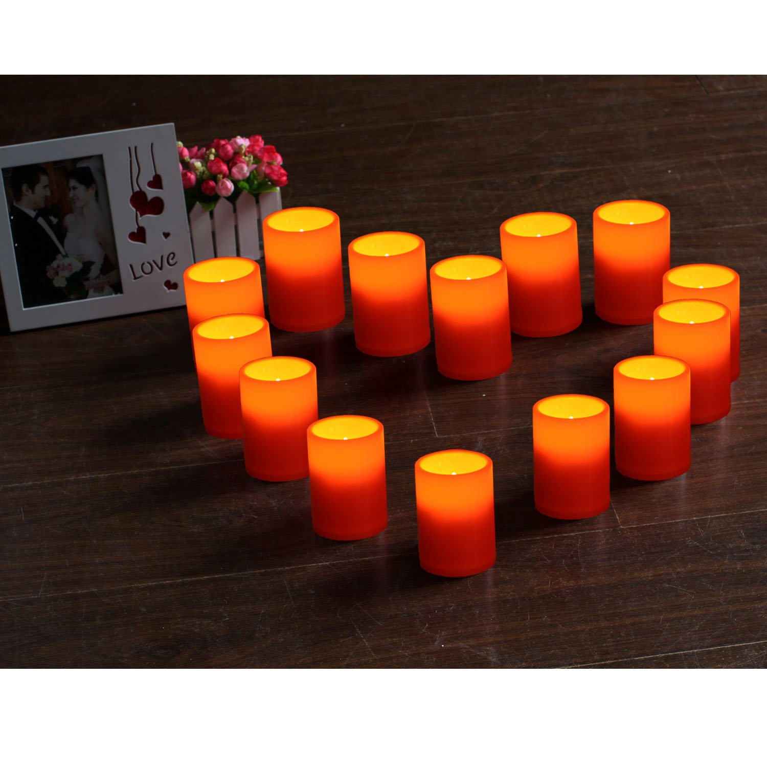 GiveU HWT13001-S2 Plastic Candle Set of 2, Pack 2, Ivory