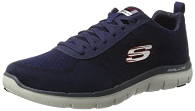 Skechers Herren Flex Advantage 2.0 Golden Point Sneakers Blau (Nvrd) 45 EU