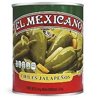 El Mexicano Chiles Jalapeños Enteros, Picante, 2800 g