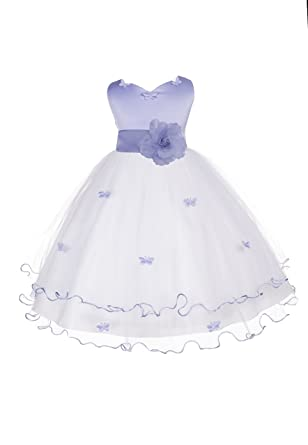 Amazon Ekidsbridal Satin Tulle Butterflies Junior Flower Girl