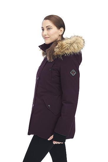 Amazon.com: Parka Alpine North de plumas, para mujer : Clothing