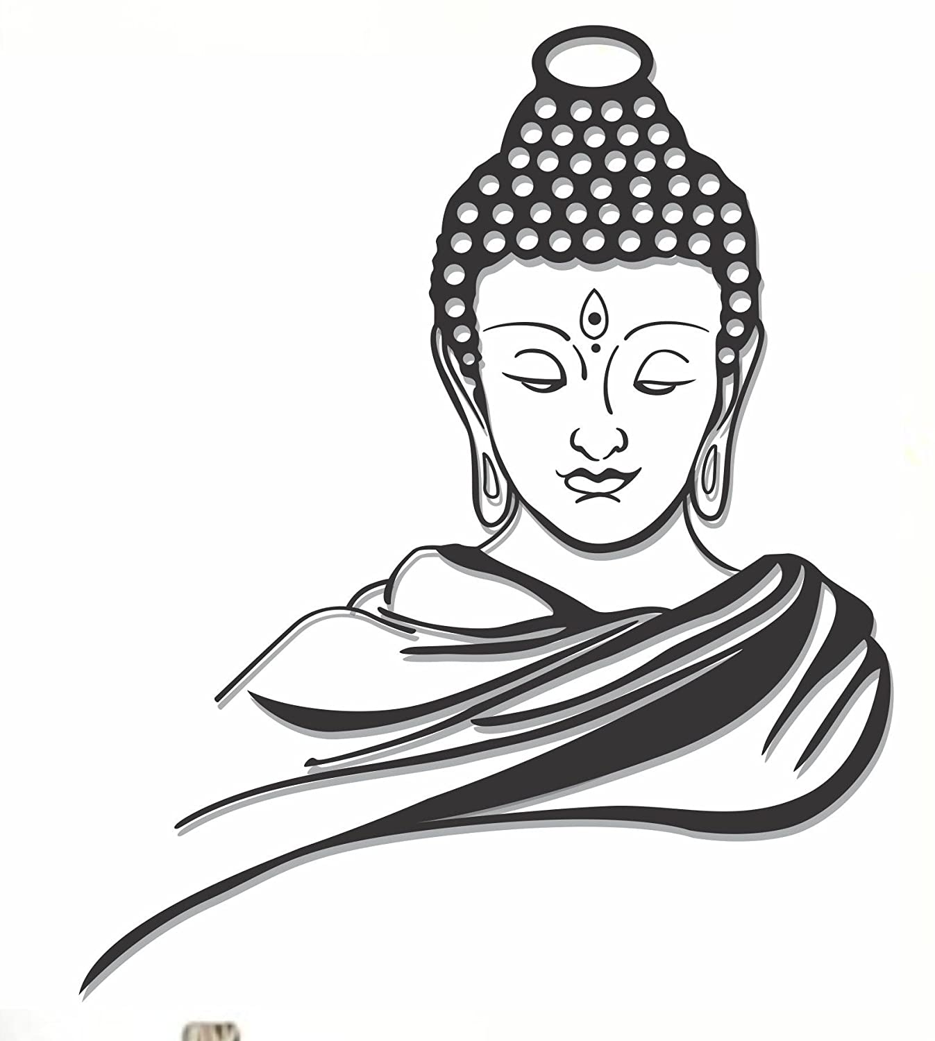 Buy happy walls lord buddha black wall decal and sticker vinyl wall stickers online at low prices in india amazon in