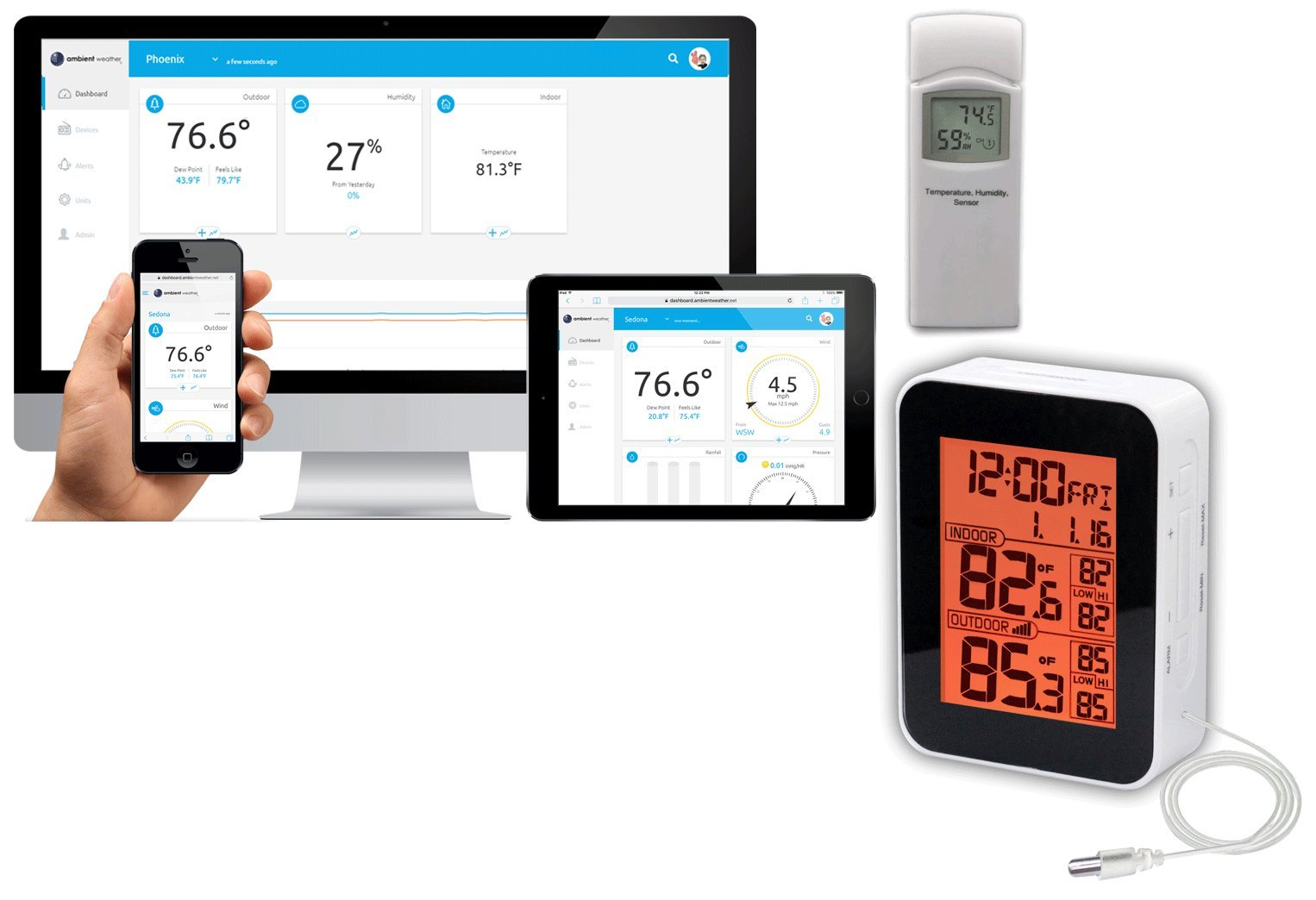 Ambient Weather Wireless Internet Remote Monitoring Weather Station
