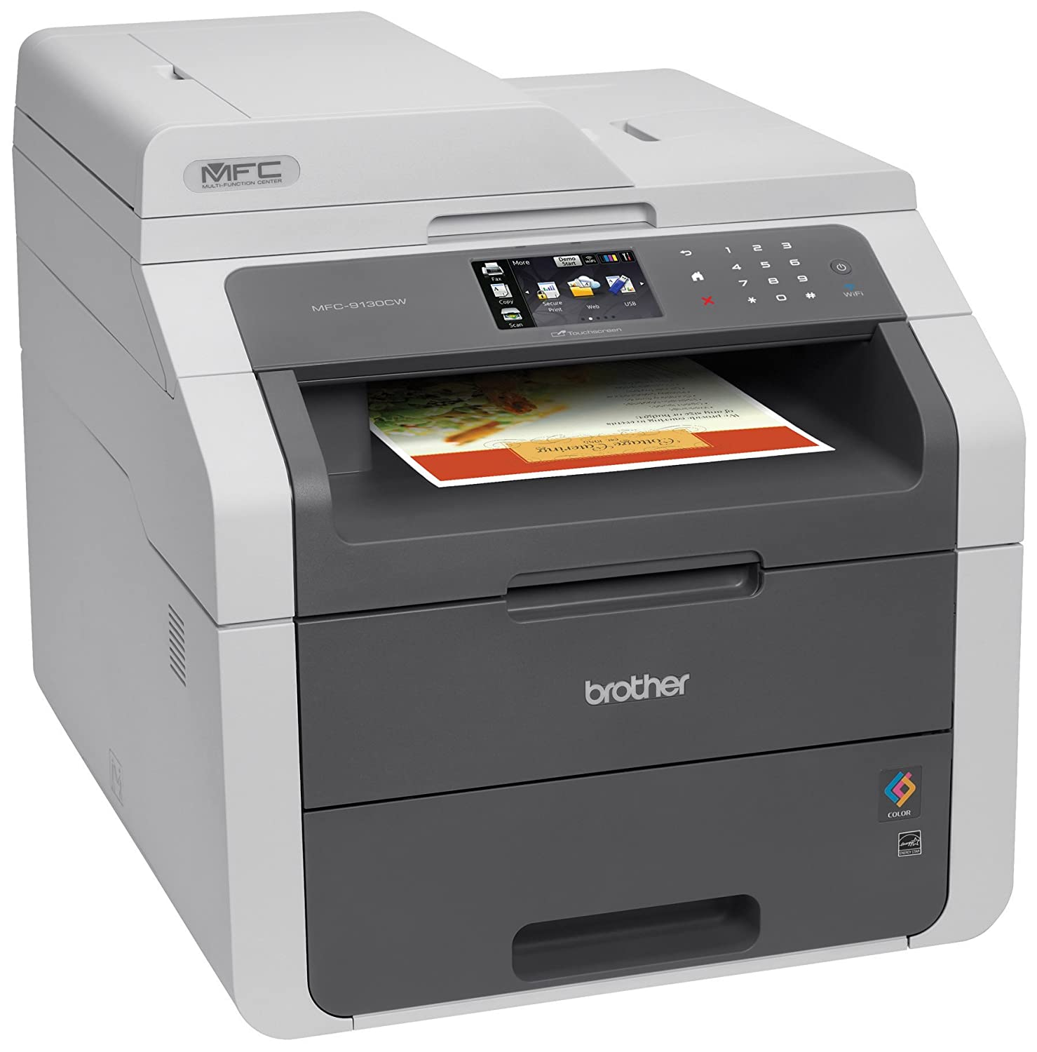 Color printers laser - Amazon Com Brother Mfc9130cw Wireless All In One Printer With Scanner Copier And Fax Amazon Dash Replenishment Enabled Electronics