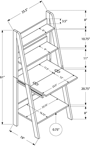 Reviewed: Monarch Specialties Tryy Ladder Desk