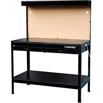 Marvelous Garage Workbench With Light Wood Steel Work Bench Tools Table Home Workshop Machost Co Dining Chair Design Ideas Machostcouk